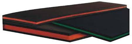 Sandwich rubber sheets-tris